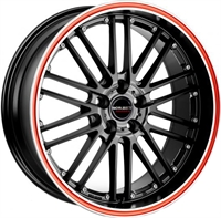 BORBET CW2 BLACK RED LINE