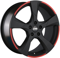 C18 MATT BLACK RED