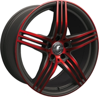 DESIGN 0217 BLACK - GLOSSY RED POLISHED