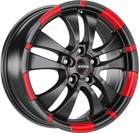 R59 JET BLACK MATT - RED RIM
